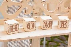 Деревянное украшение куба: домашние письма бесплатная иллюстрация