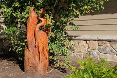 Деревянное украшение сада Стоковая Фотография RF