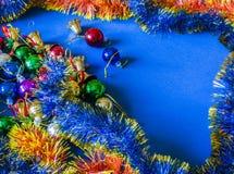 деревянное украшений рождества экологическое небо klaus santa заморозка рождества карточки мешка Стоковые Изображения RF