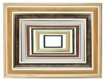 деревянное фото рамок установленное Стоковые Фотографии RF
