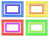 деревянное цветастой рамки установленное Стоковые Изображения RF