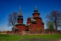 деревянное церков русское стоковое изображение rf
