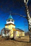 деревянное церков финское стоковые фото