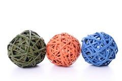 деревянное шариков декоративное Стоковые Изображения RF