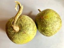 Деревянное яблоко Стоковое Изображение RF