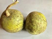 Деревянное яблоко Стоковое фото RF