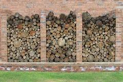 Деревянное backround стога Стоковое фото RF