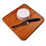 деревянное camembert доски блока круглое Стоковое Изображение RF