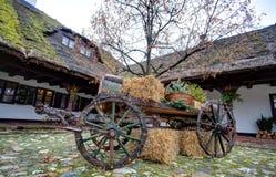Деревянное chasis украшенное для рождества Стоковые Изображения RF