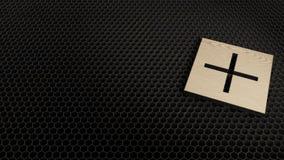 деревянное 3d плюс значок символа представить бесплатная иллюстрация
