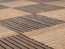 деревянное decking напольное Стоковое Изображение RF