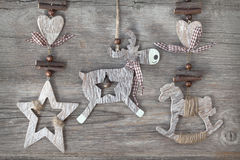 Деревянное deco рождества Стоковые Изображения RF