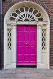 деревянное dublin двери georgian старое Стоковое фото RF