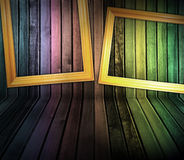 деревянное striped интерьером Стоковая Фотография RF