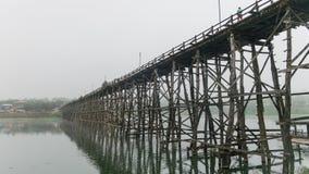 Деревянное @Thailand моста понедельника Стоковое Изображение RF
