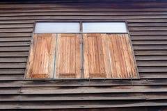 Деревянное Windows в Таиланде Стоковая Фотография RF