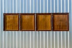 Деревянное Windows Стоковые Изображения RF