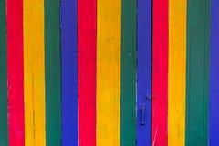 Деревянной текстура покрашенная планкой Стоковые Фотографии RF