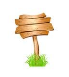 Деревянно подпишите внутри траву Стоковое Изображение RF
