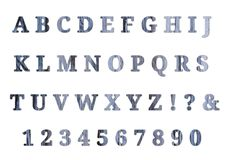 Деревянные английский алфавит и номера бесплатная иллюстрация