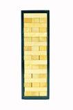 Деревянные блоки игрушки изолированные на белой предпосылке Стоковые Фотографии RF