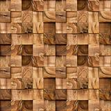 Деревянные блоки штабелированные для безшовной предпосылки Стоковые Фото