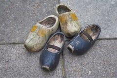 Деревянные ботинки klompen Стоковое Изображение