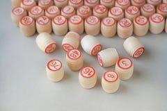 Деревянные бочонки для lotto Стоковое Изображение