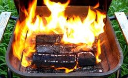 Деревянные брикеты для BBQ Стоковое фото RF