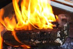 Деревянные брикеты для BBQ Стоковое Фото