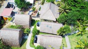 Деревянные бунгала с соломенными крышами Стоковое Изображение