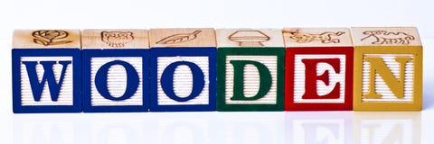 Деревянные блоки детей Стоковое Изображение RF