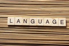 Деревянные блоки с языком текста ABC древесины Стоковые Фото