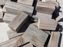 Деревянные блоки Стоковая Фотография