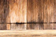 Деревянные дверь и порог зерна Стоковая Фотография RF