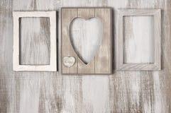 Деревянные винтажные рамки Стоковые Фото