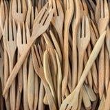 Деревянные вилки Стоковые Изображения RF