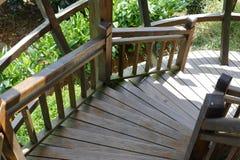 Деревянные вращая лестницы Стоковые Изображения RF