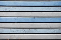 Деревянные голубые и белые горизонтальные доски Предпосылка для конструкции Стоковые Изображения RF
