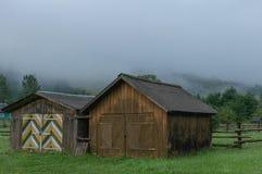 Деревянные дома горы в горах Стоковое Изображение