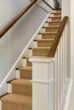 Деревянные лестница и banister Стоковые Фото