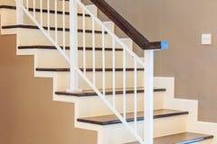 Деревянные лестницы в доме Стоковое фото RF