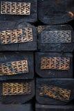 Деревянные железнодорожные слиперы в куче Стоковое Изображение RF
