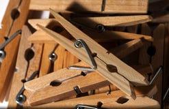 Деревянные зажимки для белья Стоковые Изображения RF