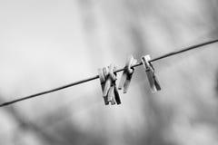 Деревянные зажимки для белья Стоковое Изображение