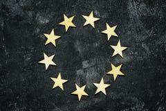 Деревянные звезды в круге Стоковые Изображения