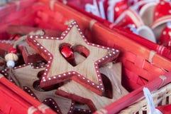 деревянные звезды для украшения рождества в christma Стоковые Фото