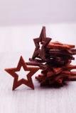 Деревянные звезды Стоковое Изображение RF