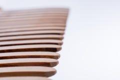 Деревянные зубы гребня волос Стоковые Изображения