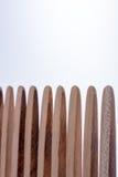 Деревянные зубы гребня волос Стоковое фото RF